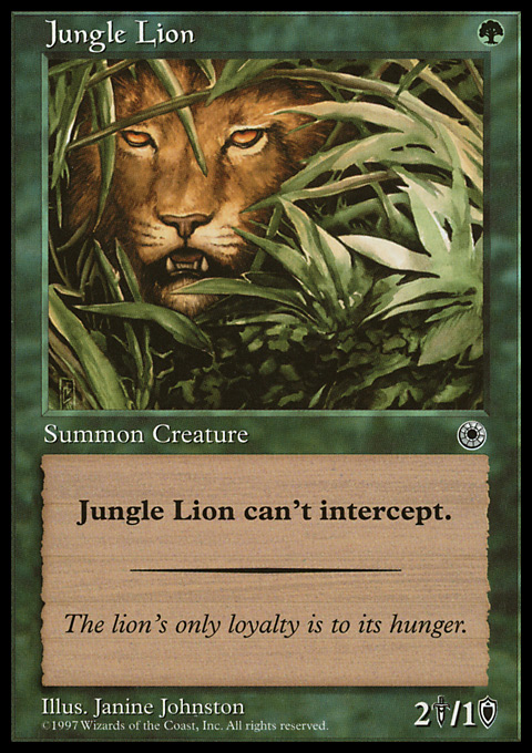 Jungle Lion original card image