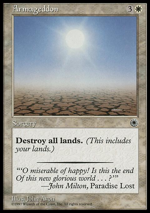 Armageddon card from Portal