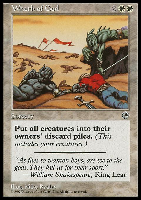 Wrath of God card from Portal