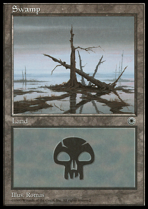 Swamp (Crossed Trees) card from Portal