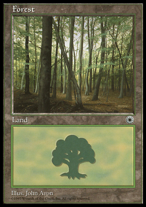 Forest (Slanted Tree) card from Portal