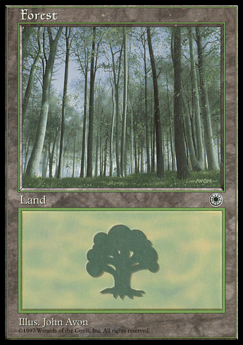 Forest (Pale Trees) card from Portal