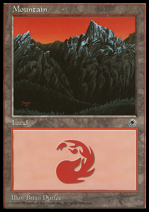 Mountain (Peaks Right) card from Portal