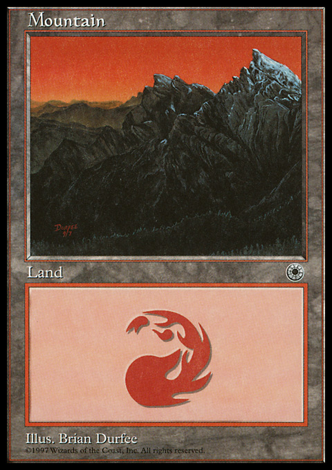 Mountain (Middle Chasm) card from Portal