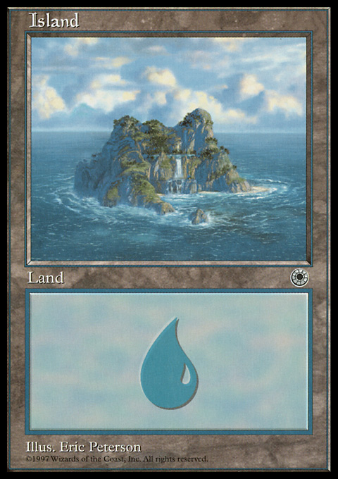 Island (Waterfall) card from Portal