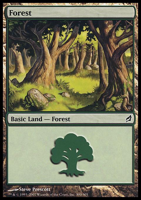 Forest (300) card from Lorwyn
