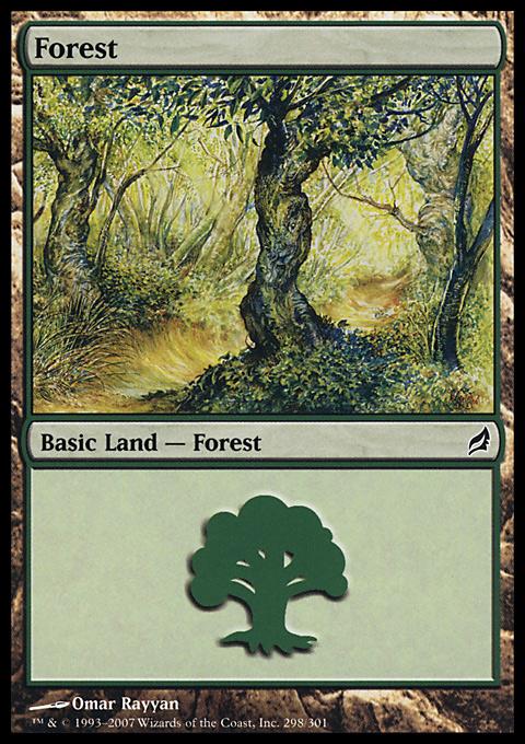Forest (298) card from Lorwyn