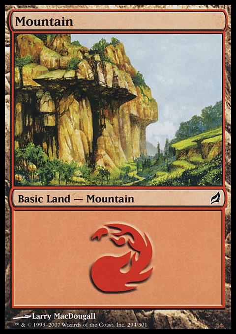 Mountain (294)  card from Lorwyn