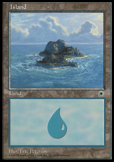 Island (Beach Right) card from Portal