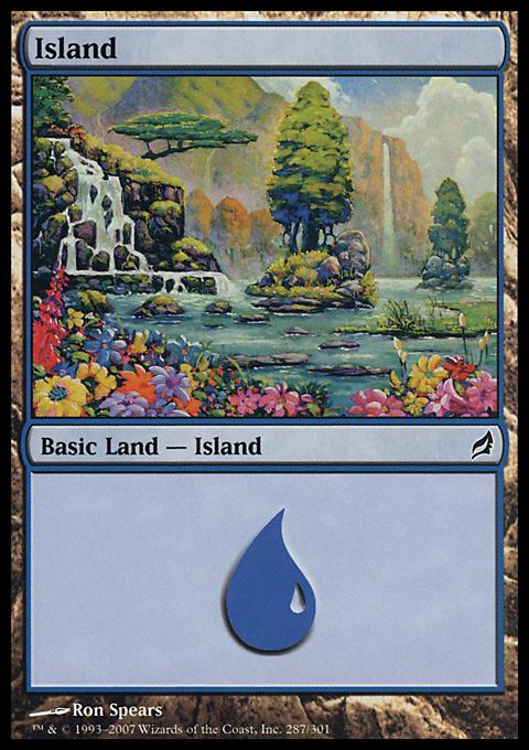 Island (287)  card from Lorwyn