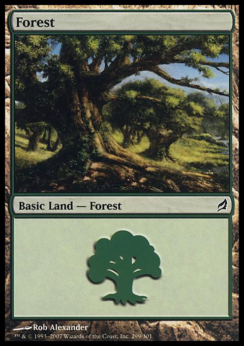 Forest (299) card from Lorwyn