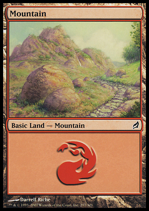 Mountain (297)  card from Lorwyn