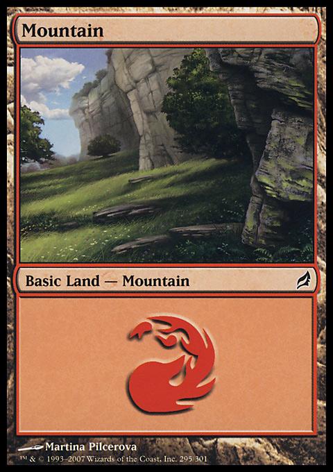 Mountain (295)  card from Lorwyn