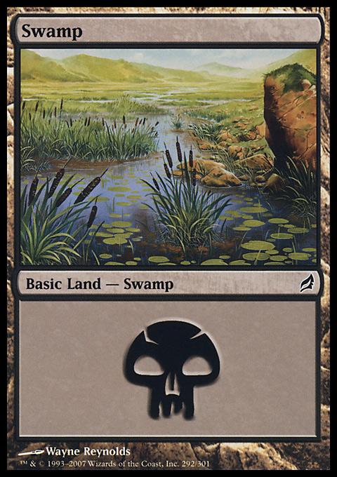 Swamp (292)  card from Lorwyn