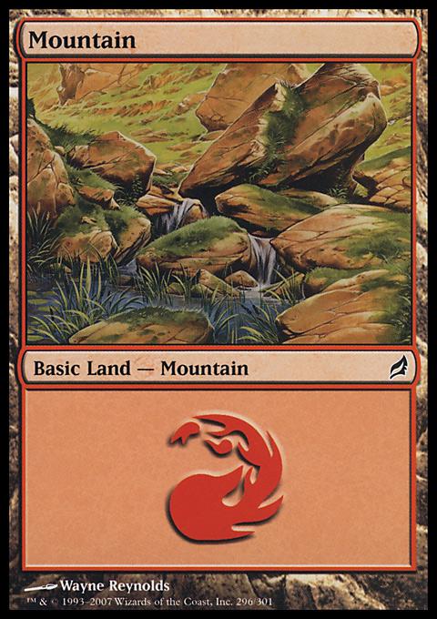 Mountain (296)  card from Lorwyn