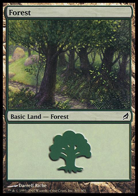 Forest (301) card from Lorwyn