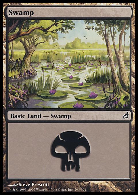 Swamp (293)  card from Lorwyn