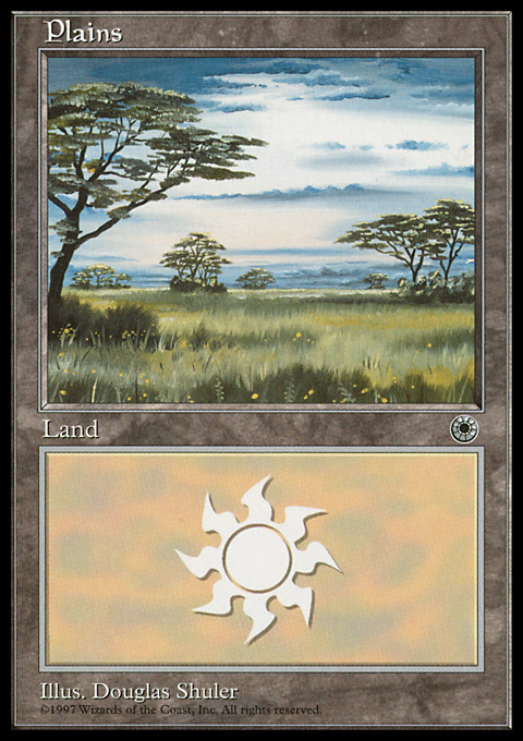 Plains (White Sky) card from Portal