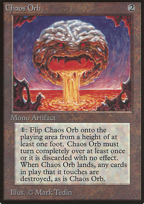 Chaos Orb card from Limited Edition Beta