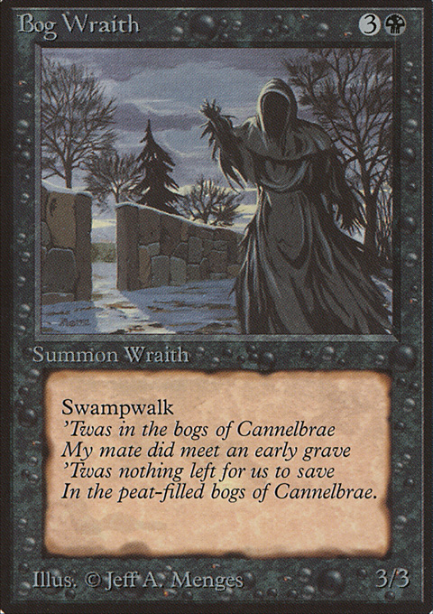Bog Wraith card from Limited Edition Beta