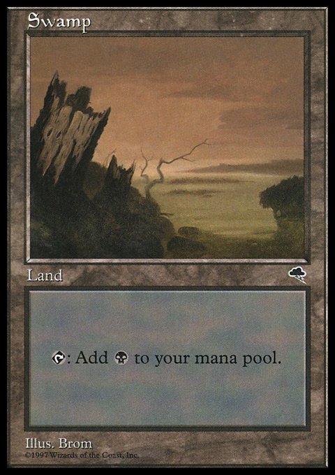 Swamp (Vertical Log) card from Tempest