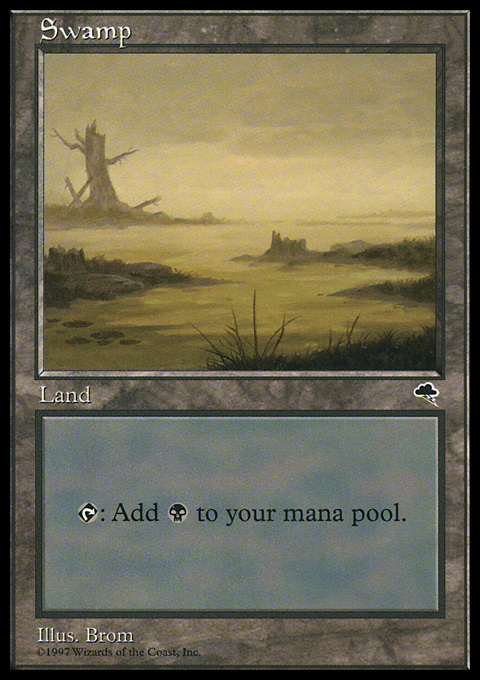 Swamp (River) card from Tempest