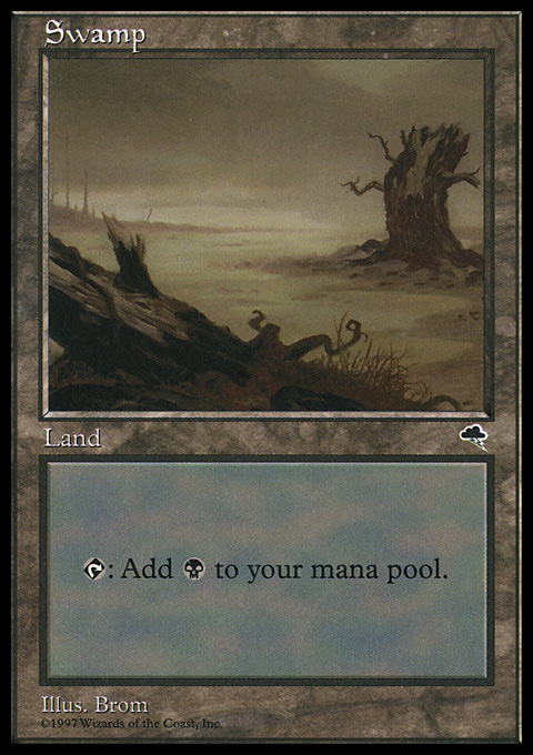 Swamp (Horizontal Log) card from Tempest