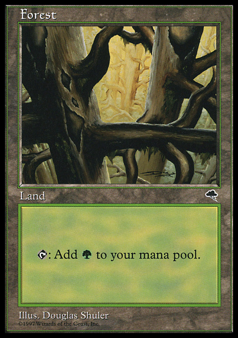 Forest (Ledge) card from Tempest