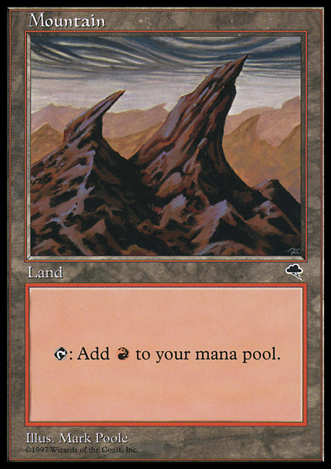 Mountain (Right) card from Tempest