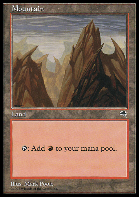 Mountain (Vertical) card from Tempest