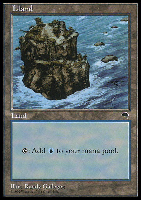 Island (Rocky Path) card from Tempest