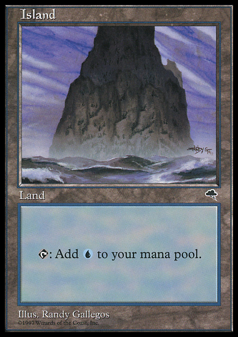 Island (Spire) card from Tempest