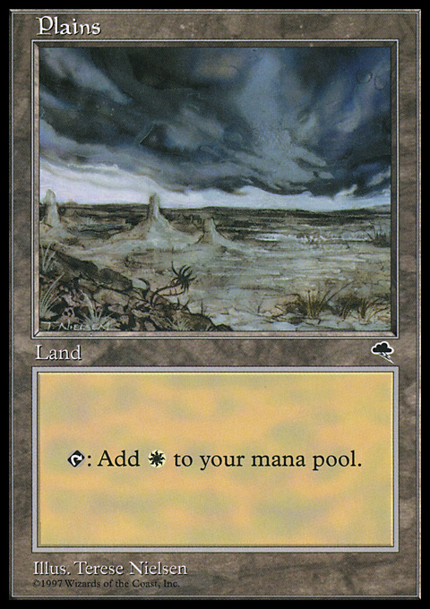 Plains (Ant Hill) card from Tempest