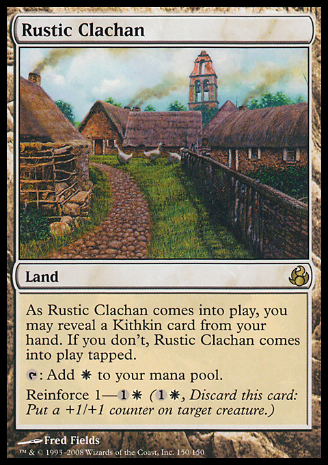 Rustic Clachan card from Morningtide