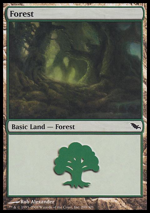 Forest (299) card from Shadowmoor