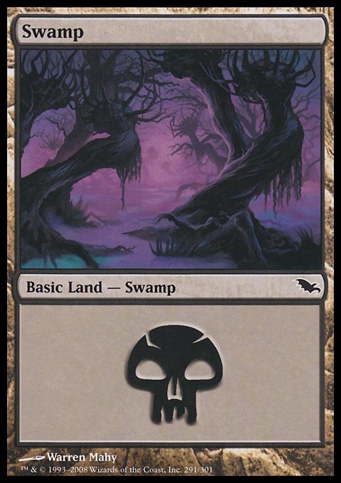 Swamp (291)  card from Shadowmoor