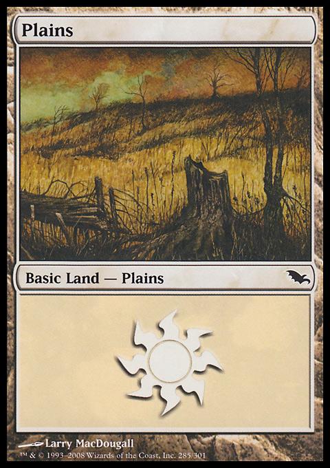 Plains (285)  card from Shadowmoor