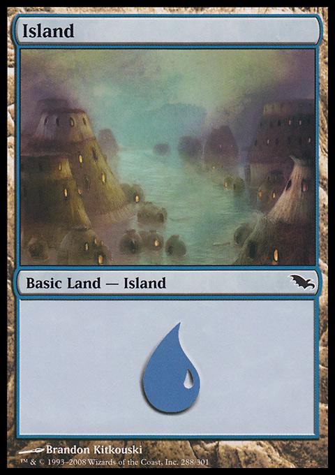 Island (288)  card from Shadowmoor