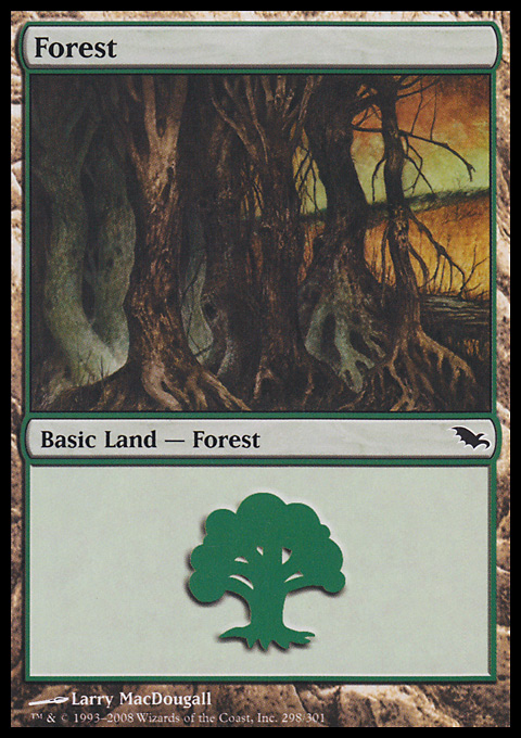 Forest (298) card from Shadowmoor