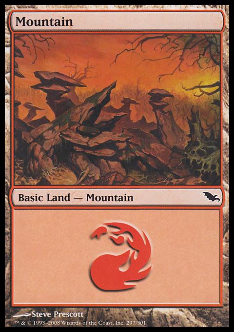 Mountain (297)  card from Shadowmoor