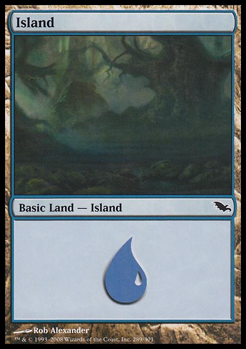 Island (289)  card from Shadowmoor
