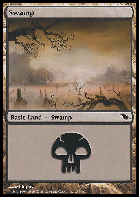 Swamp (293)  card from Shadowmoor