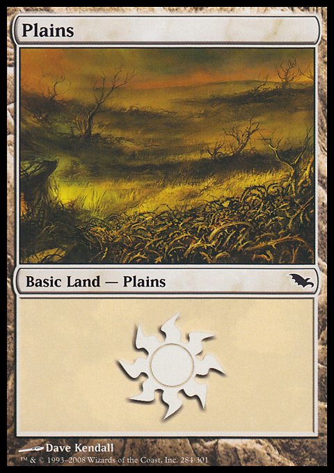 Plains (284)  card from Shadowmoor