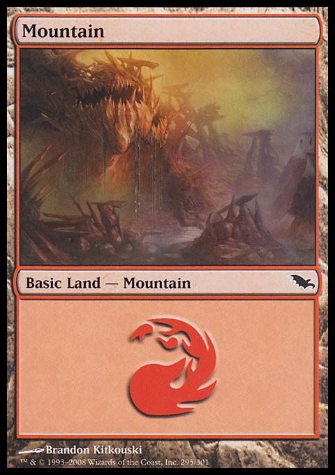 Mountain (295)  card from Shadowmoor