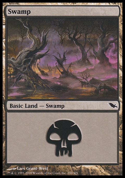 Swamp (290)  card from Shadowmoor