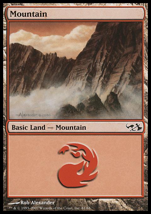 Mountain (61)  card from Duel Decks: Elves vs. Goblins