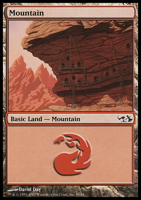Mountain (59)  card from Duel Decks: Elves vs. Goblins