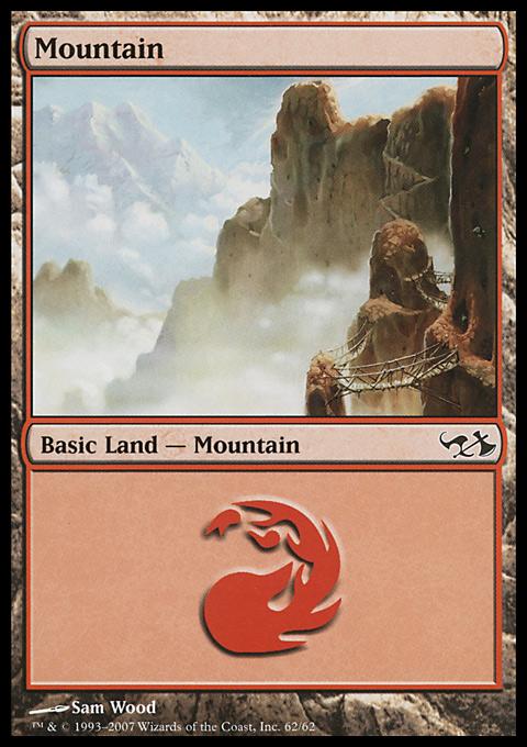 Mountain (62)  card from Duel Decks: Elves vs. Goblins