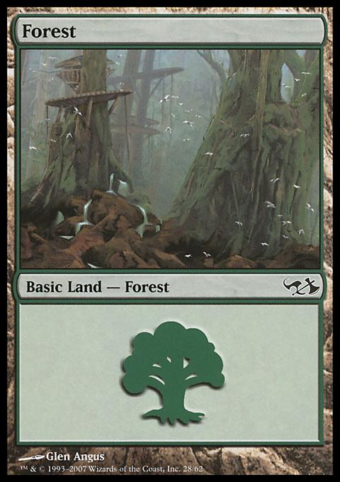 Forest (28)  card from Duel Decks: Elves vs. Goblins