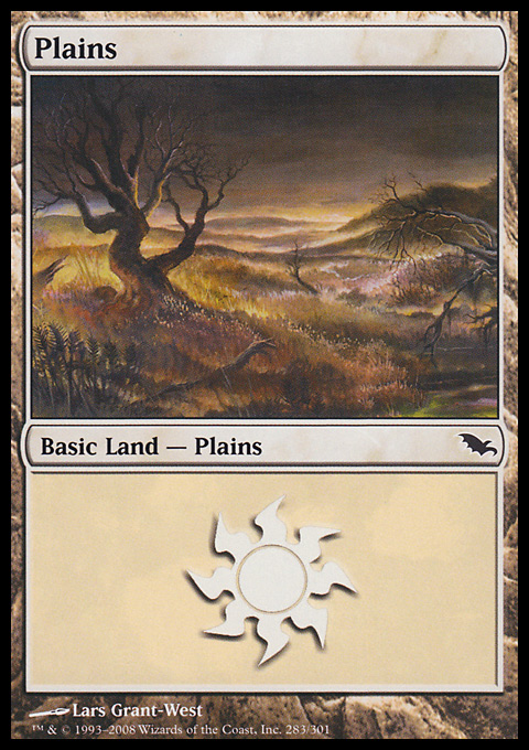 Plains (283)  card from Shadowmoor